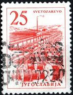 JUGOSLAVIA, YUGOSLAVIA, INGEGNERIA, ARCHITETTURA, 1961, 25 D., FRANCOBOLLO USATO Mi:YU 978, Scott:YU 634, Yt:YU 857 - Gebraucht