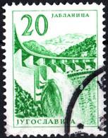 JUGOSLAVIA, YUGOSLAVIA, INGEGNERIA, ARCHITETTURA, 1965, 20 D., FRANCOBOLLO USATO Mi:YU 1131, Scott:YU 787, Yt:YU 1027 - Gebraucht