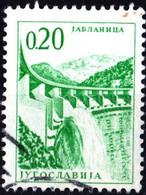 JUGOSLAVIA, YUGOSLAVIA, INGEGNERIA, ARCHITETTURA, 1966, 0,20 D., FRANCOBOLLO USATO Mi:YU 1155, Scott:YU 833, Yt:YU 1072 - Gebraucht