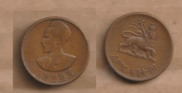 ETIOPIA  10 Santeem 1936 (1944) Copper • 6.0 G • ⌀ 22.8 Mm KM# 34, Schön# 30 - Ethiopia