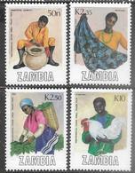 Zambia 1988 Sc#444-7 Crafts Set   MNH   2016 Scott Value $3.30 - Zambia (1965-...)