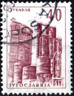 JUGOSLAVIA, YUGOSLAVIA, INGEGNERIA, ARCHITETTURA, 1962, 40 D., FRANCOBOLLO USATO Mi:YU 980, Scott:YU 636, Yt:YU 859 - Gebraucht