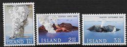 Islande 1965 N° 347/349  Neufs ** MNH Volcan Ile Surtsey - Ungebraucht