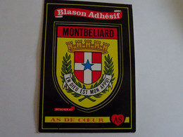 Blason écusson Adhésif Autocollant Montbéliard Aufkleber Wappen Coat Arms Sticker Adhesivo Adesivo Stemma - Obj. 'Herinnering Van'