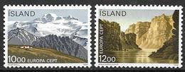 Islande 1986 N° 601/602 Neufs Europa Protection De La Nature - Ungebraucht