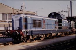 Photo Diapo Diapositive Slide Train Locomotive Diesel SNCF 66474 à VSG Le 17/11/1993 VOIR ZOOM - Diapositives (slides)
