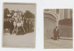 Argentan, Orne Rue Des Vieilles Halles, 2 Photos, Alexandre De La Bretèche, Claire De Tocqueville, Avant 1940, - Luoghi