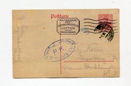 !!! BELGIQUE OCCUPEE, ENTIER POSTAL DE BRUXELLES POUR STRASBOURG DE 1918 CACHETS DE CENSURE - Postcards [1909-34]