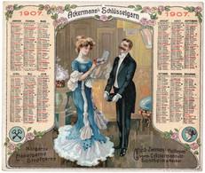 1  Kalender 1907   Ackermann's Schlüsselgarn  Nähgarne Häkelgarne Stopfgarne Sontheim A- Neckar - Big : 1901-20