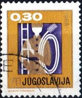 JUGOSLAVIA, YUGOSLAVIA, ANNO NUOVO, 1967, 0,30 D., FRANCOBOLLO USATO Mi:YU 1255, Scott:YU 893, Yt:YU 1137 - Gebraucht
