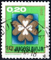 JUGOSLAVIA, YUGOSLAVIA, ANNO NUOVO, 1967, 0,20 D., FRANCOBOLLO USATO Mi:YU 1254, Scott:YU 892, Yt:YU 1136 - Gebraucht