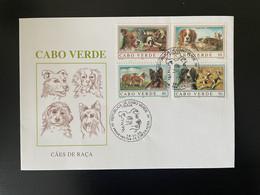 Cape Verde Cabo Verde 1995 Mi. 694 - 697 FDC Chiens Hunde Dogs Caes Faune Fauna - Honden