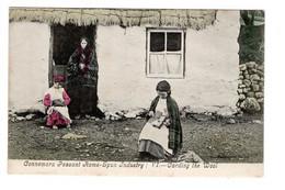 IRLANDE - CONNEMARA -PEASANT HOME SPUN INDUSTRY - CARDING THE WOOL - Galway