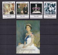Antigua And Barbuda 1993 40th Anniversary Coronation Queen Elizabeth II MNH** - Royalties, Royals