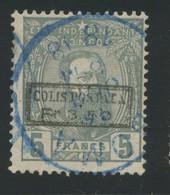 CP.5 Ø   5F Gris Gestempeld   Cote 240-euros - 1884-1894 Precursori & Leopoldo II