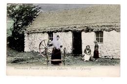 IRLANDE - CONNEMARA -PEASANT HOME SPUN INDUSTRY - SPINNING - Galway