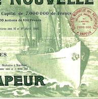 1925 VRAIMENT SUPERBE STE NOUVELLE DES PECHERIES A VAPEUR Nantes Et Arcachon  B.E.V.SCANS + HISTORIQUE - Industrie
