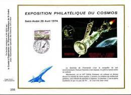 (CEF128) Concorde Feuillet CEF Special Expo Philatelique Cosmos 27/04/74 St Andre - Concorde