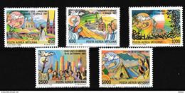 Vatikaan 1988 Luchtpost Nr 83/87 **, Zeer Mooi Lot Krt 4055 - Collezioni (senza Album)