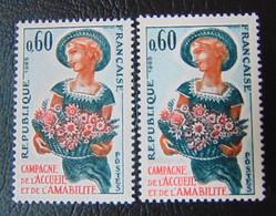 N° 1449** En Variété. - Varieties: 1960-69 Mint/hinged
