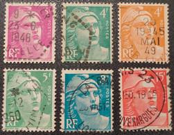 N° 806 à 810/813  Avec Oblitération Cachet à Date D'Epoque TB - Used Stamps