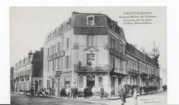 36  CHATEAUROUX  GRAND HOTEL DU FAISAN   AVENUE DE LA GARE  ET RUE BOURDILLON  BELLE ANIMATION   VOIR  LES  2  SCANS - Chateauroux