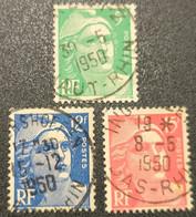 N° 809/812/813  Avec Oblitération Cachet à Date D'Epoque TB - Used Stamps