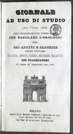 Giornale Ad Uso Di Studio Per L'anno 1854 Tempo Medio Per Regolare L'orologio - Altri