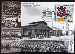 Brazil Maximo Postal Corinthians Old Pictures Soccer Football Postcard 2010 In Fabric - Unclassified