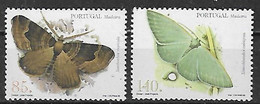1998 Madeira Fauna Insectos Mariposas 2v. Mint - Vlinders