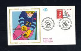 FDC-1168**FRANCE 1990 *LA MENUIRE- SLALOM FDC W CEF CACHET - 1990-1999