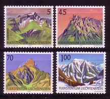 LIECHTENSTEIN MI-NR. 993-996 POSTFRISCH(MINT) BERGE MOUNTAIN 1990 - Nuovi