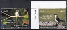 2011 Peru Endangered Birds Set (** / MNH / UMM) - Sperlingsvögel & Singvögel