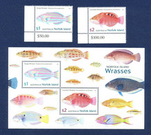 Norfolk Island 2018 MiNr. 1277 - 1278 (Block 69) Fishes Marine Life 2v + S/sh  MNH** 12,00 € - Norfolk Island