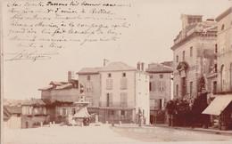 87 - BELLAC - Carte Photo 1890/1900 Place Du Marché - Photo De Photg OMETZ - Bellac