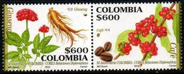 A546H-COLOMBIA- 2012 -MNH- GINSENG AND COFFEE - 50 YEARS OF COLOMBIA-KOREA RELATIONS - Colombia