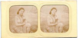 Lot De 2 Photos Stéréoscopiques - Jeunes Femmes Seins Nus , Dénudées - Stéréo , érotisme - Stereoscopio