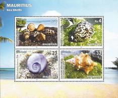 Mauritius 2017, Sea Shells, MNH S/S - Mauritius (1968-...)