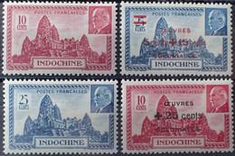 R2452/902 - 1941 Et 1944 - COLONIES FR. - INDOCHINE - SERIE COMPLETE - N°222 à 223 + N°294 à 295 NEUFS* - Unused Stamps