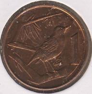 Cayman Islands 1 Cent 2002, Great Cayman Thrush Bird, KM#131, XF- - Cayman Islands