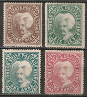 India Sirmoor 1885 Sc 3,5-7  Partial Set MH*/MNG Some Disturbed Gum - Sirmoor