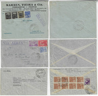 Brazil 1930 / 1937 3 Coversent By Airmail Service - Airmail
