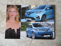 CPM Voiture De Star - LA Renault ZOE Voiture De Mélanie Laurent Actrice - Tirage Non Légendé Au Recto - Unclassified