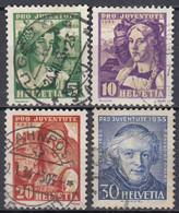 SCHWEIZ  266-269, Gestempelt, Pro Juventute 1933, Frauentrachten - Oblitérés