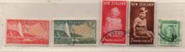 Neuseeland 1951/52 MiNr.: 317-321 Gestempelt New Zeeland Used Scott: B38-B41; 279 Yt: 313-317A Sg: 708-711; 713 - Gebraucht