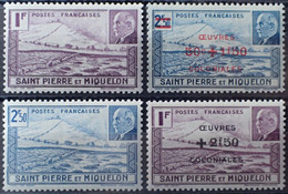 R2452/912 - 1941 Et 1944 - S.P.M. - SERIE COMPLETE - N°210 à 211 + N°312 à 313 NEUFS* - Nuovi
