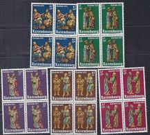 Luxembourg - Luxemburg - Timbres  Caritas  1973  Héliogravures   MNH**  5 Blocs à 4 - Blokken & Velletjes