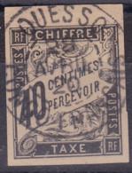 Taxe 40c Noir Ouesso Congo Français - Postage Due