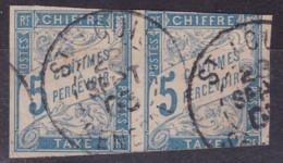 Taxe 5c Paire Saint Louis Senegal - Postage Due