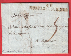 MARQUE REVOLUTIONNAIRE 61 MONTAGNE SUR MER PAS DE CALAIS MONTREUIL SUR MER AMIENS SOMME INDICE 22 - 1801-1848: Precursors XIX